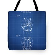 Parachute Harness Patent From 1922 - Blueprint Tote Bag