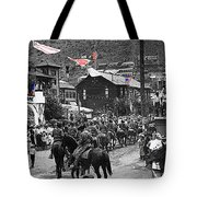Parade Bisbee Arizona July 4th 1909 Color Added 2013 Tote Bag