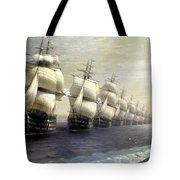 Parade Of The Black Sea Fleet In 1849 Tote Bag