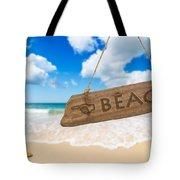 Paradise Beach Sign Algarve Portugal Tote Bag