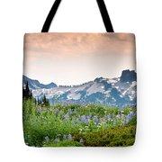 Paradise Meadows And The Tatoosh Range Tote Bag