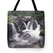 Paradise River Cascade Mt Rainier Tote Bag