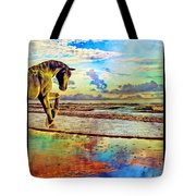 Paradise Sunset Tote Bag by Betsy Knapp