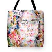 Paramahansa Yogananda Watercolor Portrait Tote Bag