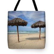 Parasols On Varadero Beach Tote Bag