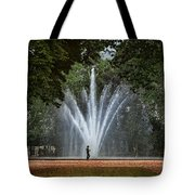 Parc De Bruxelles Fountain Tote Bag