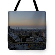Parc Guell At Sunrise Tote Bag