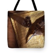 Parchment With Ink And Quill Pen Tote Bag