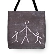 Parent And Children Tote Bag