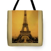 Paris 1889  Tote Bag by Andrew Fare