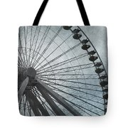 Paris Blue Ferris Wheel Tote Bag