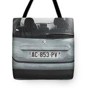 Paris Blue Peugeot Tote Bag