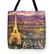 Paris City Of Lights Tote Bag