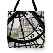 Paris Clock Tote Bag