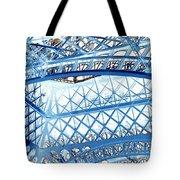 Paris Design In Blue Tote Bag