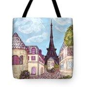 Paris Eiffel Tower Inspired Impressionist Landscape Tote Bag
