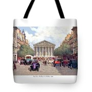 Paris France - The Rue Royal And The Madeleine - 1910 Tote Bag