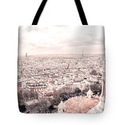 Paris From Above - View From Sacre Coeur Basilica Tote Bag