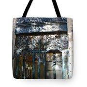 Paris Guerlain Storefront Boutique - Paris Guerlain Blue Door Art Nouveau Art Deco Door Tote Bag