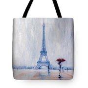 Paris In Rain Tote Bag