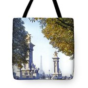 Paris In The Fall 1954 Tote Bag by Chuck Staley