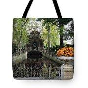 Paris Jardin Du Luxembourg Gardens Autumn Fall  - Medici Fountain Sculpture Autumn Fall Photographs Tote Bag