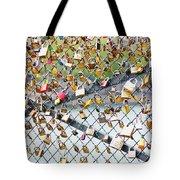 Paris - Locks Of Love Tote Bag