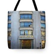 Paris Louis Vuitton Fashion Boutique - Louis Vuitton Designer Storefront In Paris Tote Bag
