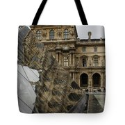 Paris - Louvre Reflecting In The Pyramid  Tote Bag