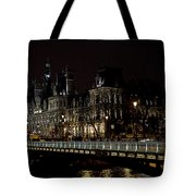 Paris Night Along The Seine Tote Bag