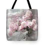 Paris Pink Impressionistic French Roses And Ranunculus - Shabby Chic Romantic Pink Flowers Tote Bag