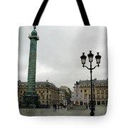 Paris Place Vendome Architecture Monuments Street Lamps And Buildings  Tote Bag
