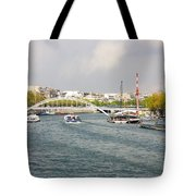 Paris River Cityscape Tote Bag