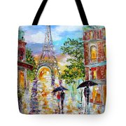 Paris Romance Tote Bag