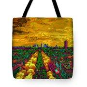 Paris Skyline Pop Art Tote Bag