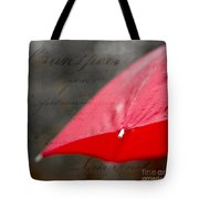 Paris Spring Rains Tote Bag