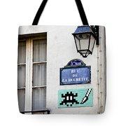Paris Street Art - Space Invader Tote Bag