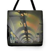 Paris Subway Tunnel Tote Bag