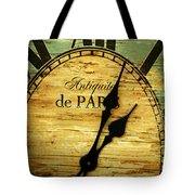 Paris Time Tote Bag