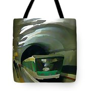 Paris Train In Fisheye Perspective Tote Bag