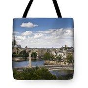 Paris View Notre Dame Tote Bag