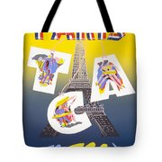 Paris Vintage Travel Poster Tote Bag