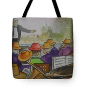 Parisian Hat Band Across From Notre Dame Cathedral Tote Bag
