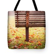 Park Bench In Autumn Tote Bag