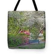 Park Bench Painting Tote Bag