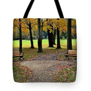 Park Bench Tote Bag
