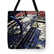 Park Bench With Flowers Tote Bag