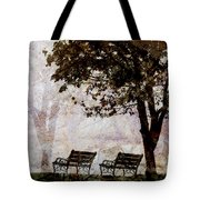 Park Benches Square Tote Bag