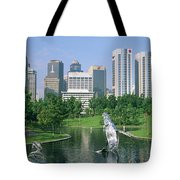Park In The City, Petronas Twin Towers Tote Bag