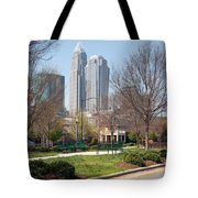 Park In Uptown Charlotte Tote Bag